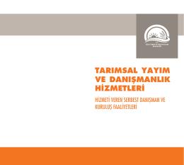 Tarımsal danışmanlık - TC Gıda Tarım ve Hayvancılık Bakanlığı