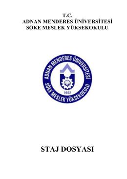 Staj dosyası tıklayınız. - Adnan Menderes Üniversitesi