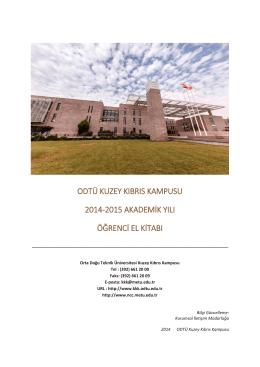 Öğrenci El Kitapçığı (PDF) - ODTÜ KKK : Oryantasyon Sistemi