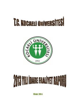 Nisan 2014 - Kocaeli Üniversitesi