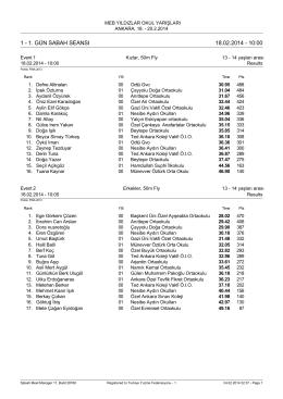 1. gün sabah seansı 18.02.2014 - 10:00