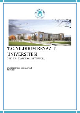 2013 Yılı İdare Faaliyet Raporu
