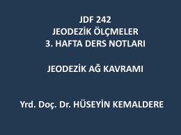 Jeodezik Kontrol Ağları