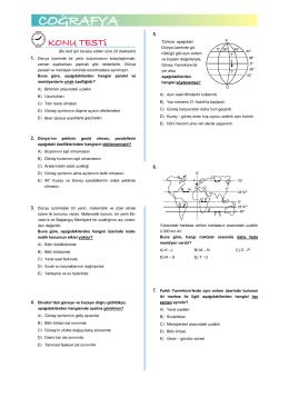 ÖABT Coğrafya TEST 1 - Kpss Coğrafya Rehberi
