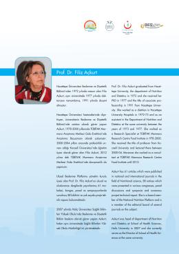 Prof. Dr. Filiz Açkurt - İstanbul Sağlık ve Beslenme Bienali
