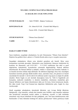 005 - istanbul ymmo 26 aralık 2013 aylık toplantısı