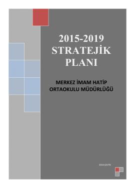 Stratejik Plan - Tepebaşı İlçe Milli Eğitim Müdürlüğü
