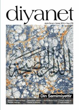 Diyanet Dergisi Şubat Sayısı