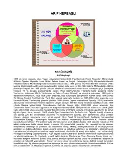 arif hepbaşlı - Enerji Sistemleri Mühendisliği