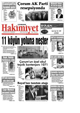 (16 a\360ustos.qxd) - Çorum Hakimiyet Gazetesi