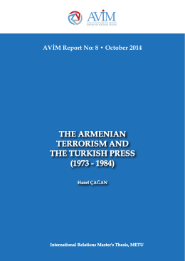 the armenıan terrorısm and the turkısh press (1973 - 1984)