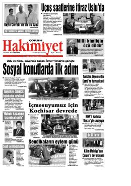 (25 eyl\374l.qxd) - Çorum Hakimiyet Gazetesi
