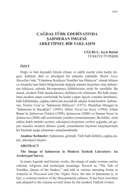 çağdaş türk edebiyatında şahmeran imgesi