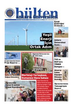 Yeşil Enerji İçin Ortak Adım - Ankara Üniversitesi Bültenleri