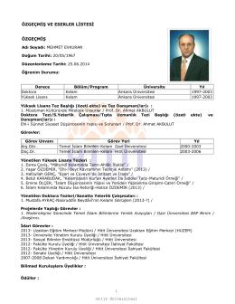 Prof.Dr.Mehmet EVKURAN - Sosyal Bilimler Enstitüsü