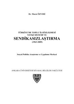 Kitabın tam metni için tıklayınız - Ankara Üniversitesi Sosyal Politika