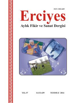 439 Temmuz 2014 - Erciyes Dergisi