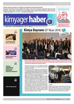 Mayıs 2014 - Kimyagerler Derneği Marmara Şubesi