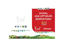 Sempozyum Programı - Ankara Üniversitesi Ziraat Fakültesi