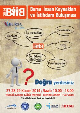 Etkinlik Programı - Bursa Büyükşehir Belediyesi