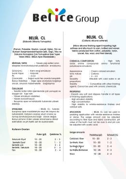 belsıl cl - Belice Kimya