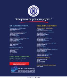 İstanbul Aydın Üniversitesi:: Uygulama Dergileri