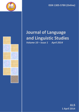 Download Full Issue in PDF - Journal of Language and Linguistic