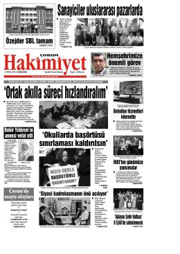 (3 eyl\374l.qxd) - Çorum Hakimiyet Gazetesi