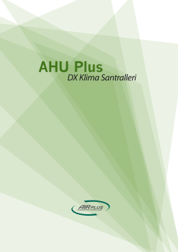 AHU Plus - Air Plus İklimlendirme Sistemleri