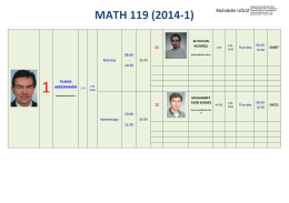 M MATH 119 (2 2014- -1) - Middle East Technical University