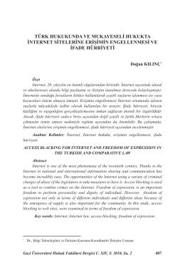 türk hukukunda ve mukayeseli hukukta internet
