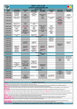 19.01.2015-25.01.2015 Seans Programı