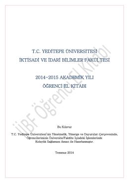 Öğrenci El Kitabı - İktisadi ve İdari Bilimler Fakültesi