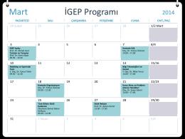 Mart İGEP Programı