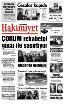 (26 kas\375m.qxd) - Çorum Hakimiyet Gazetesi