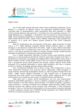 Davet Metni - İstanbul Health Expo