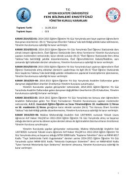 karar 2014/023 - Afyon Kocatepe Üniversitesi