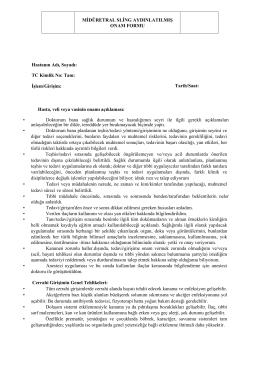 Midüretral Sling Operasyonları (TOT-TVT)