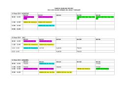 2013-2014 Bahar Dönemi Arasınav Takvimi