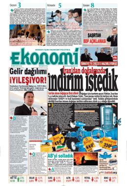 14 MART 2014 - Ekonomi Gazetesi