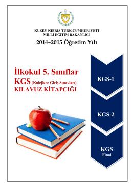 kgs-2015-kılavuz kitapçığı - KKTC Milli Eğitim, Gençlik ve Spor