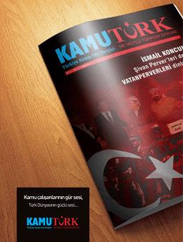 kamutürk dergisini okumak için tıklayınız - Türkiye Kamu-Sen