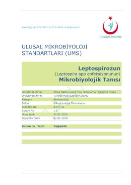 Leptospiroz - Türkiye Halk Sağlığı Kurumu