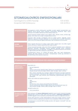 Sitomegalovirüs (CMV) enfeksiyonları