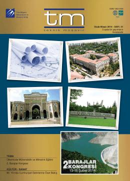 tm Dergi 31. Sayı - Türk Müşavir Mühendisler ve Mimarlar Birliği