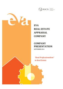 eva real estate appraısal company company presentatıon