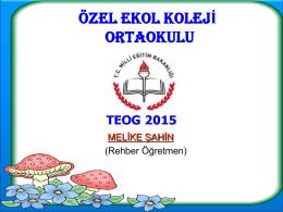 2015 TEOG Sunumu