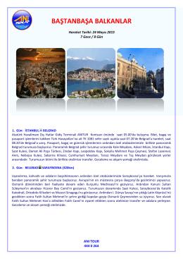 Baştanbaşa Balkanlar 24 Mayıs 2015