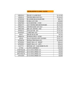 Yedek Parca Fiyat Listesi 17 02 2014