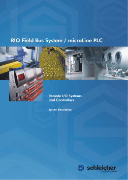 System Description RIO / microLine